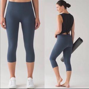Lululemon Flow & Go Crop Leggings Astro Blue Yoga